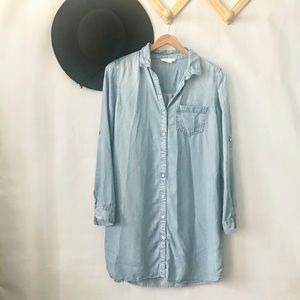 beachlunchlounge | Denim Chambray Shirt Dress XS